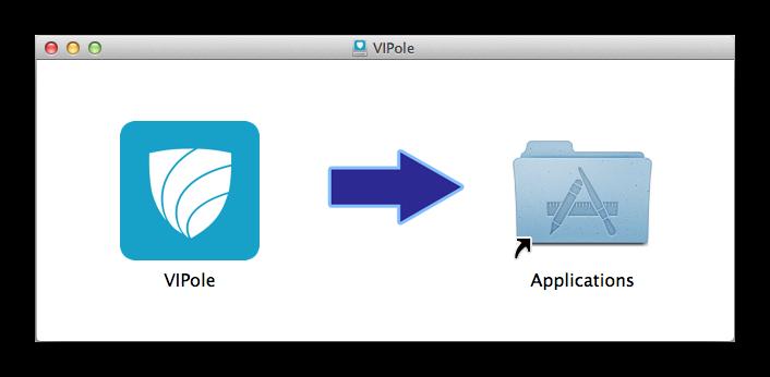 Окно инсталляции VIPole в Mac OS