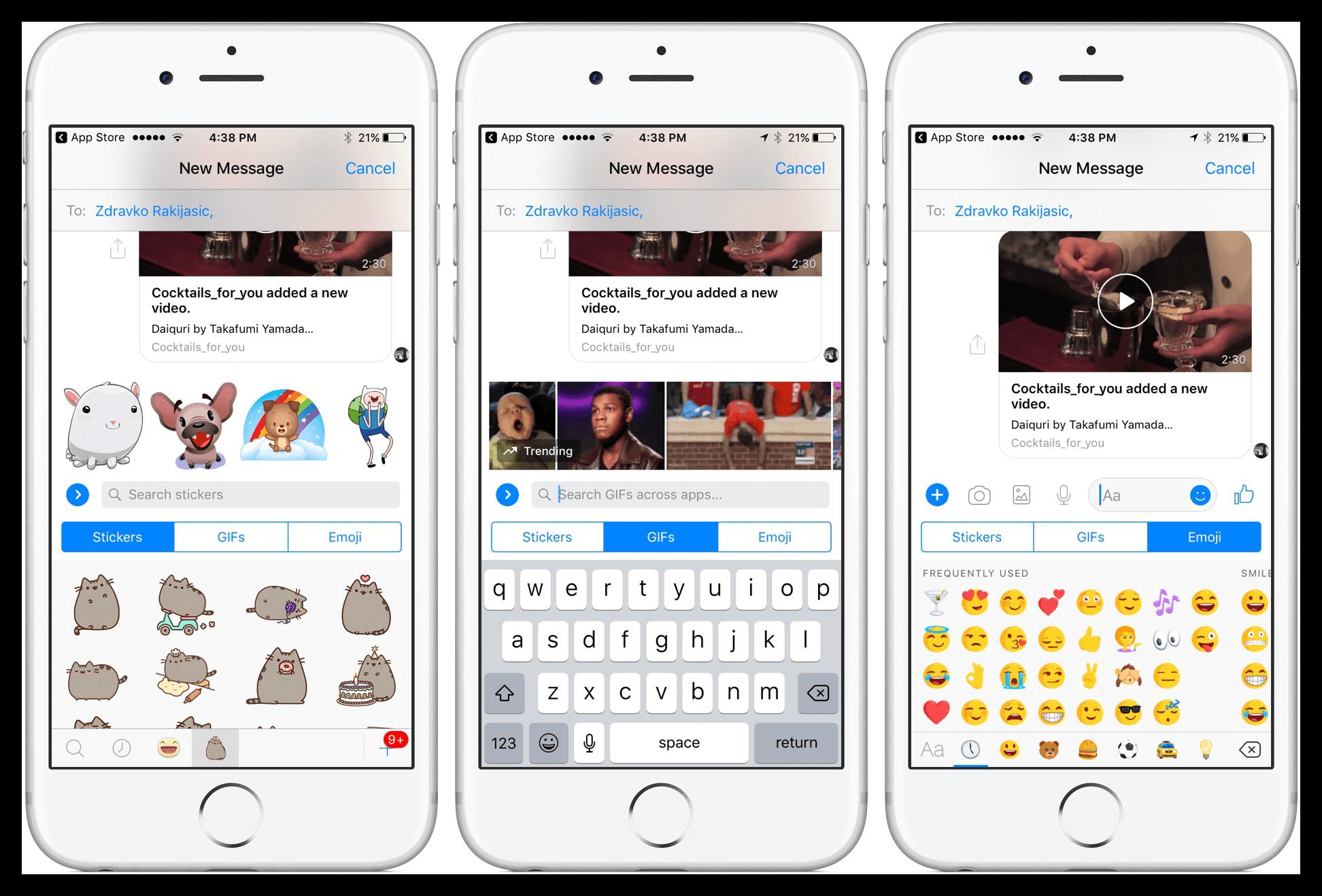 Картинка Facebook Messenger на iOS