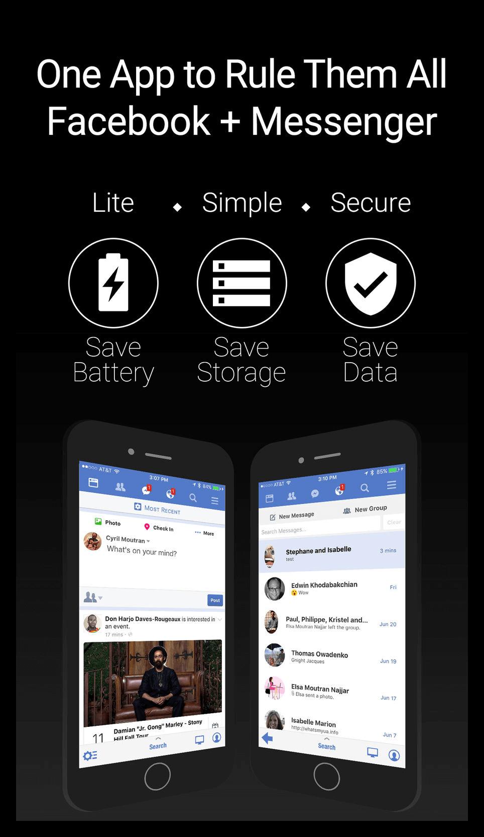 Картинка Приложение Friendly for Facebook на iOS