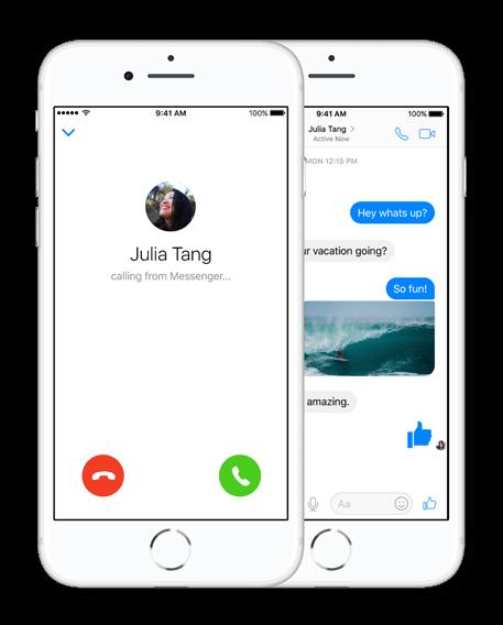 Картинка Звонки в Facebook Messenger